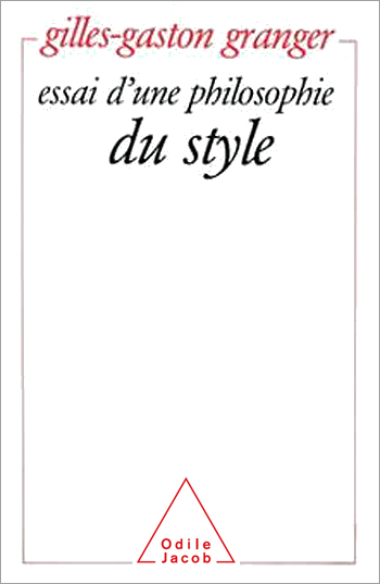Essay on a Philosophy of Style